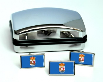 Ourense (Spain) Flag Cufflink and Tie Pin Set