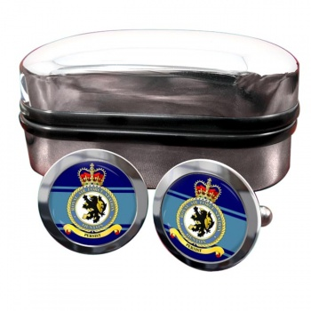 RAF Station Ouston Round Cufflinks