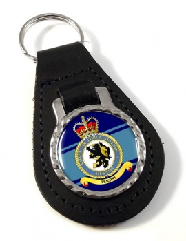 RAF Station Ouston Leather Key Fob