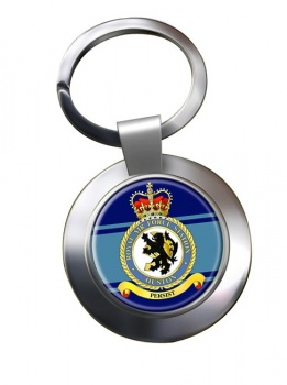 RAF Station Ouston Chrome Key Ring