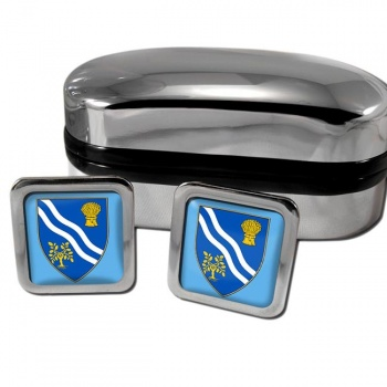 Oxfordshire England Square Cufflinks