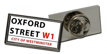 Oxford Street Rectangle Pin Badge