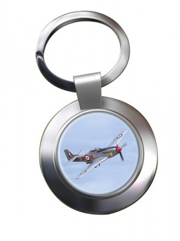 P51 Mustang Chrome Key Ring