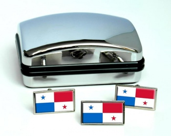 Panama Flag Cufflink and Tie Pin Set