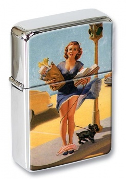Panties Mishap Pin-up Girl Flip Top Lighter