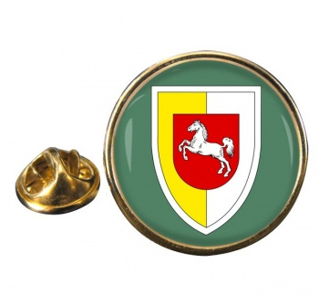 Panzerlehrbrigade 9 (German Army) Round Pin Badge