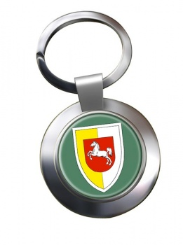 Panzerlehrbrigade 9 (German Army) Chrome Key Ring