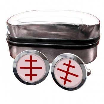 Papal Cross Round Cufflinks