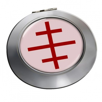 Papal Cross Chrome Mirror