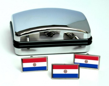 Paraguay Flag Cufflink and Tie Pin Set