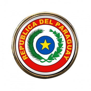 Paraguay Round Pin Badge