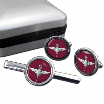 1st Battalion Parachute Regiment  Round Cufflink and Tie Clip Set