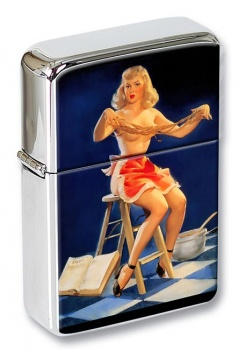 Pasta Pin-up Girl Flip Top Lighter