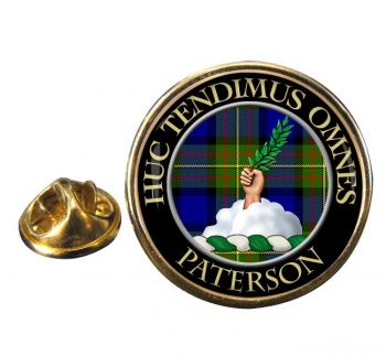 Paterson Scottish Clan Round Pin Badge