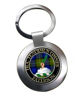 Paterson Scottish Clan Chrome Key Ring