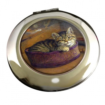 Cat Within An Artist's Hat by Frank Paton Mirror