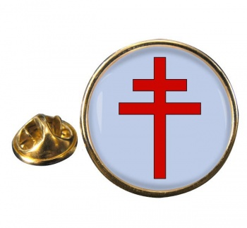 Patriarchal Cross Round Pin Badge