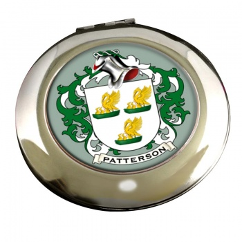 Patterson Coat of Arms Chrome Mirror
