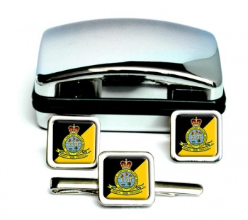 Prince Edward Island Regiment (Canadian Army)  Square Cufflink and Tie Clip Set