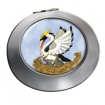 Pelican in Her Piety Chrome Mirror