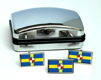 Pembrokeshire  Flag Cufflink and Tie Pin Set