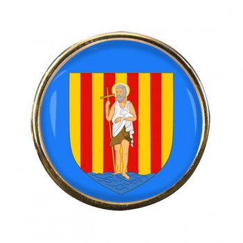 Perpignan (France) Round Pin Badge