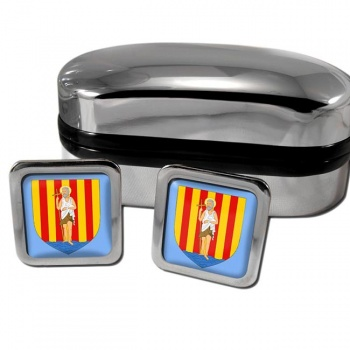 Perpignan France Square Cufflinks