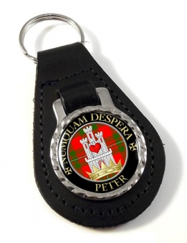 Peter Scottish Clan Leather Key Fob