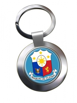 Philippines Pilipinas Crest Metal Key Ring