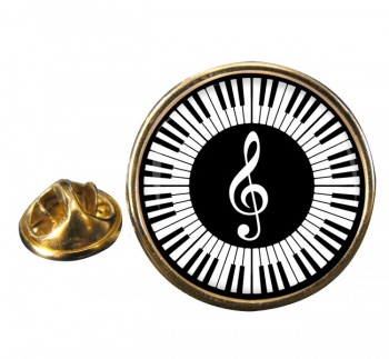 Piano Round Pin Badge