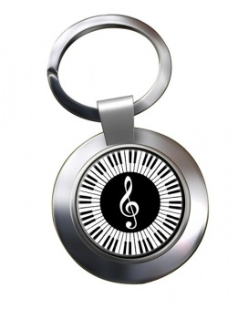 Piano Chrome Key Ring
