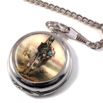 Bagpiper Pocket Watch