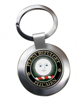 Pitcairn Scottish Clan Chrome Key Ring
