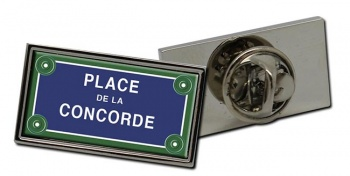 Place de la Concorde Rectangle Pin Badge