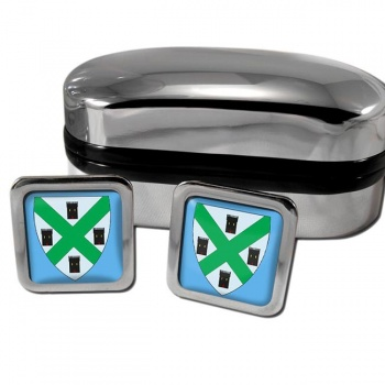 Plymouth England Square Cufflinks