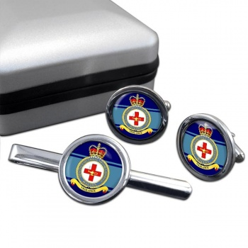 RAF Station Princess Mary's Royal Air Force Hospital Halton Round Cufflink and Tie Clip Set