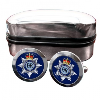 Port of Liverpool Police Round Cufflinks