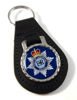 Port of Liverpool Police Leather Key Fob