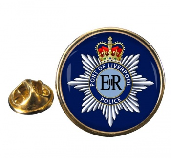 Port of Liverpool Police Round Pin Badge