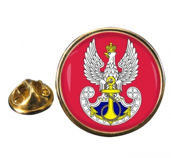 Marynarka Wojenna (Polish Navy) Round Pin Badge