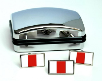 Pomorskie (Poland) Flag Cufflink and Tie Pin Set