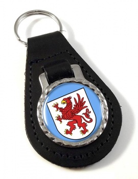 Pommern Pomerania (Germany) Leather Key Fob