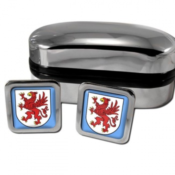 Pommern Pomerania Germany Square Cufflinks