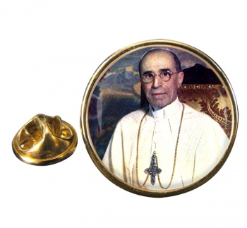 Pope Pius XII Round Pin Badge
