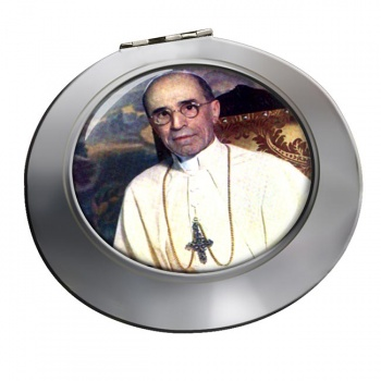 Pope Pius XII Chrome Mirror