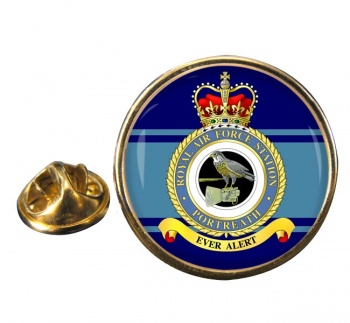 RAF Station Portreath Round Pin Badge