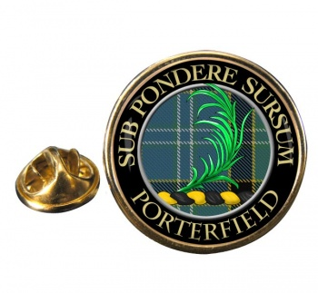 Porterfield Scottish Clan Round Pin Badge