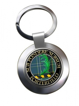 Porterfield Scottish Clan Chrome Key Ring