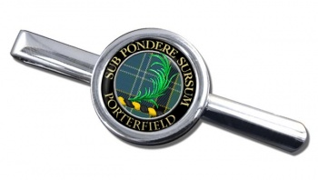 Porterfield Scottish Clan Round Tie Clip