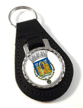 Porto (Portugal) Leather Key Fob